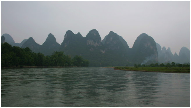 漓江东侧的兴坪古渔村,始建于明正德年间