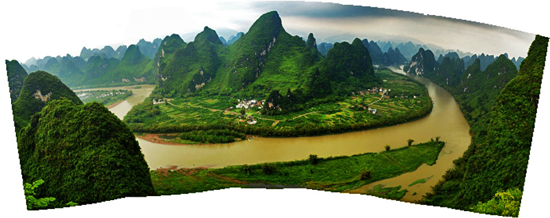 震撼!雨后登相公山,漓江成了人间仙境