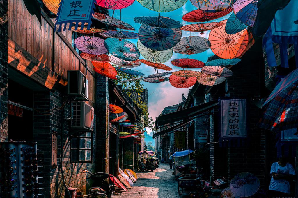 广西桂林兴坪古镇-漓江沿岸最美丽的古镇,是漓江风景的精华所在
